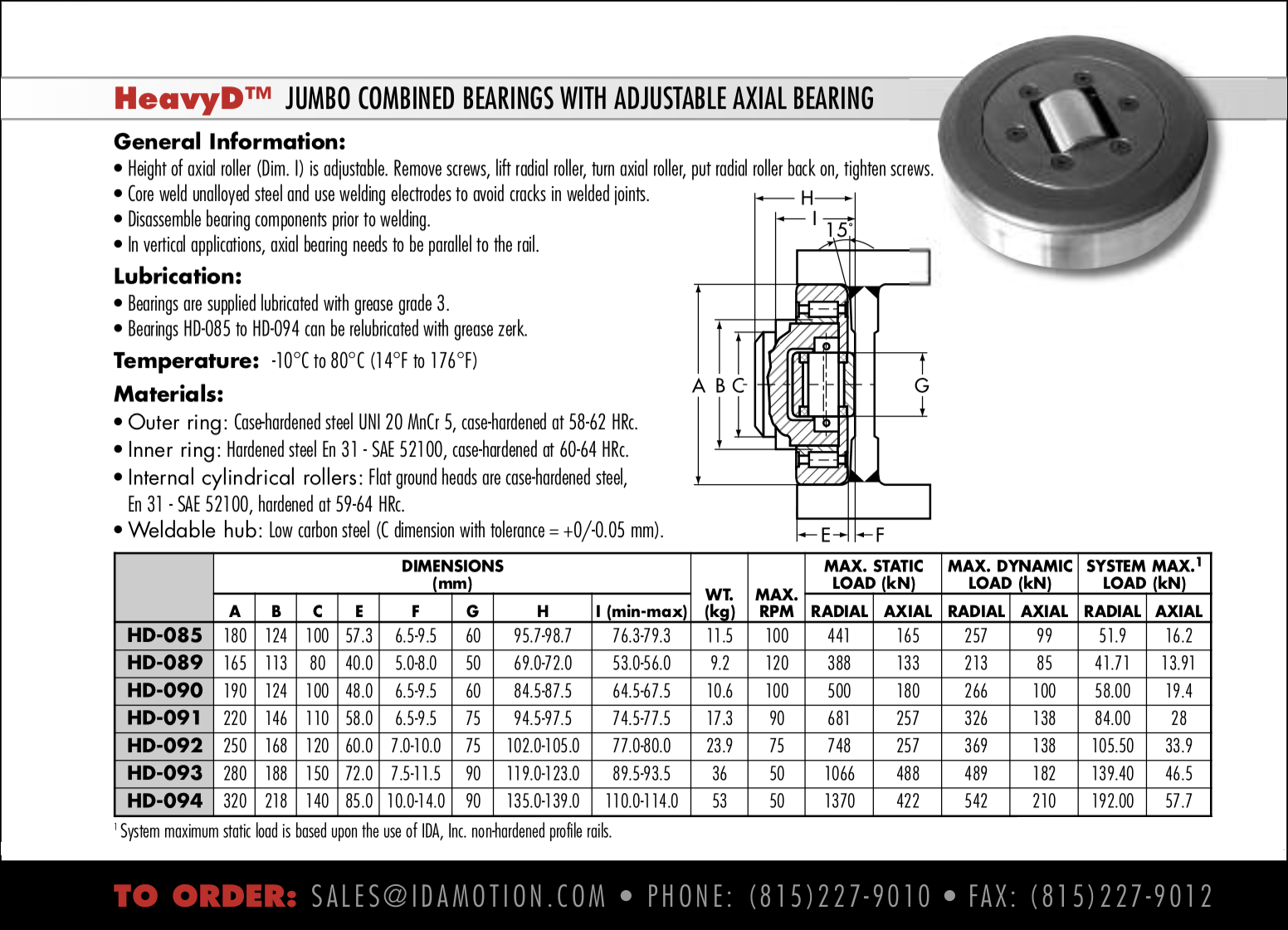 Jumbo Combined with Adjustable Axial Bearing